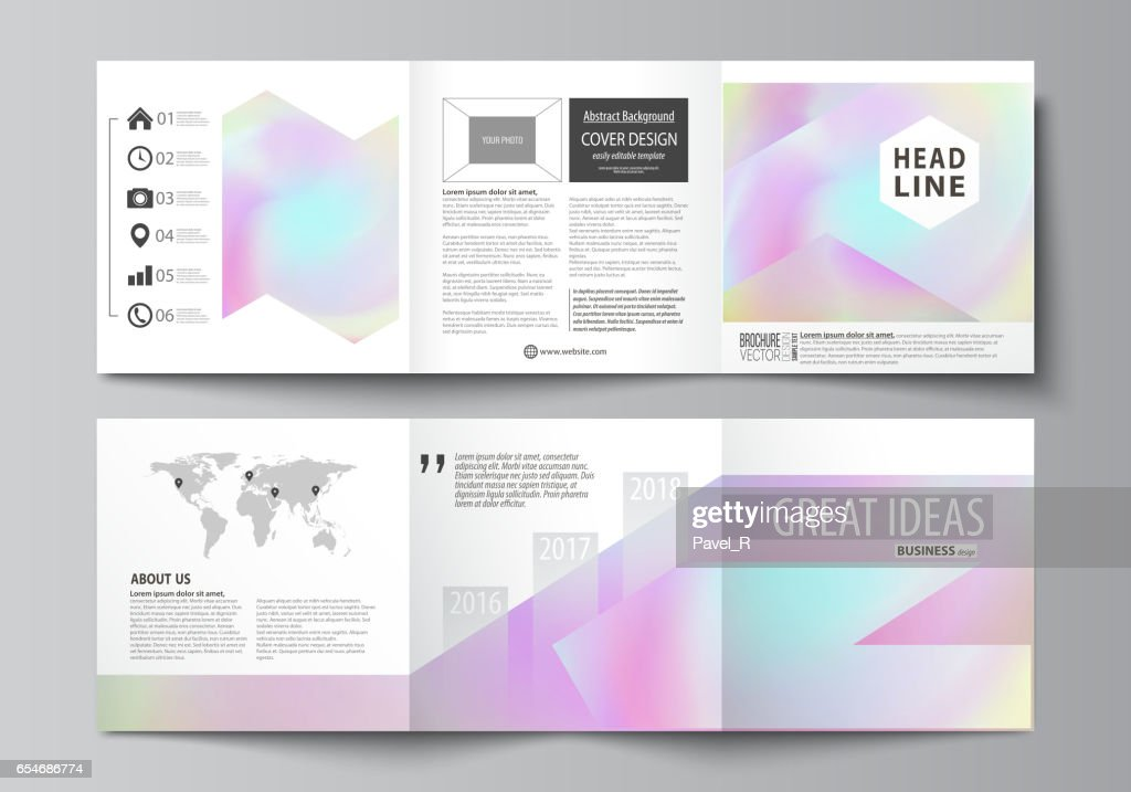 business templates for tri fold square design brochures leaflet