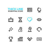 Business - Thick Single Line Icons Set