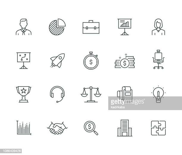 business thin line series - adult stock illustrations