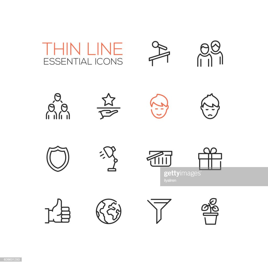 Business - Thin Single Line Icons Set