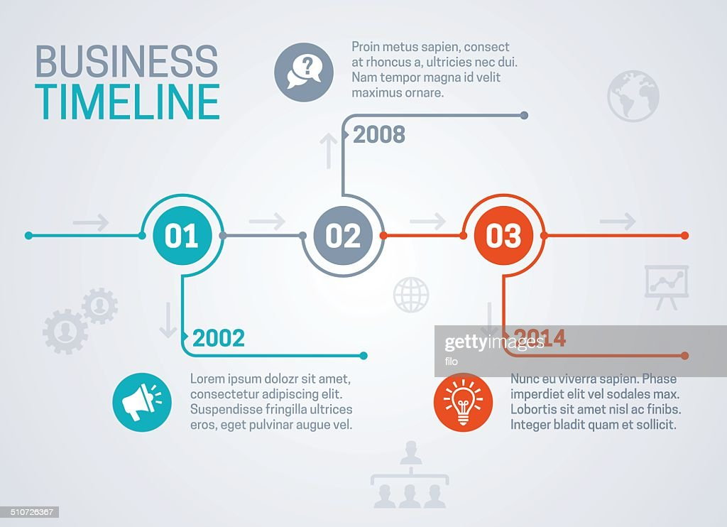 business timeline vector art getty images