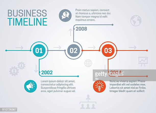 business timeline - multiple image stock illustrations, clip art, cartoons, & icons