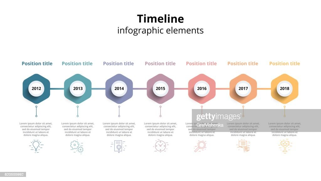 Business Timeline Workflow Infographics Corporate Milestones Graphic