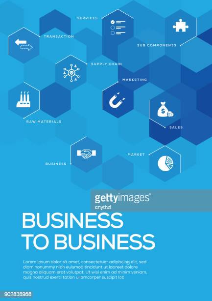 Business to Business. Brochure Template Layout, Cover Design