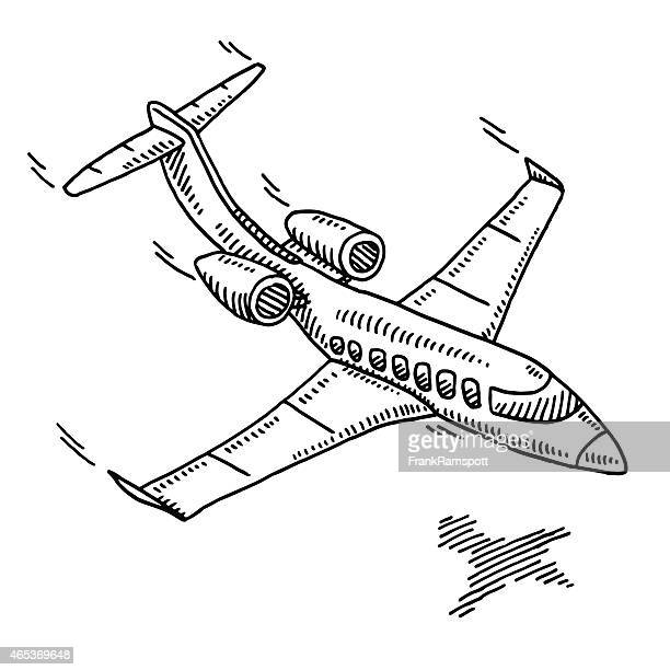 Business Travel Aircraft Drawing