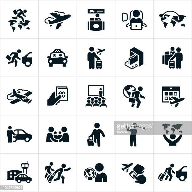 business travel icons - business travel stock illustrations, clip art, cartoons, & icons