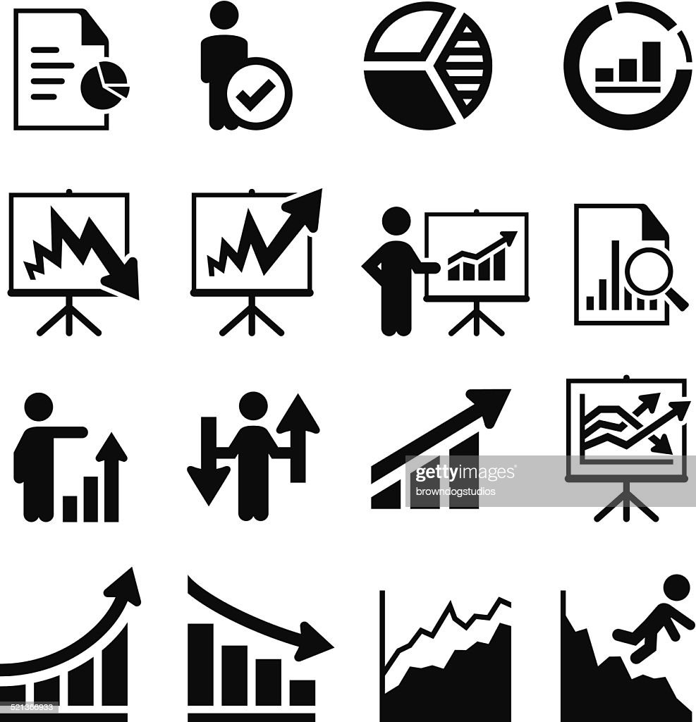 Business Trends Icons - Black Series