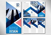 Business trifold brochure/ flyer template - DL format
