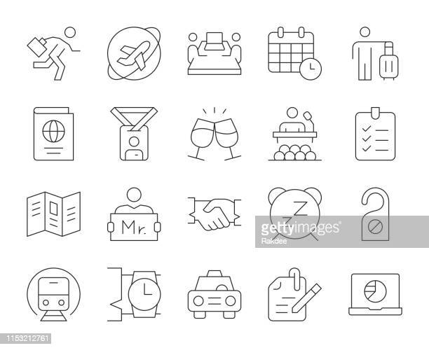 Business Trip - Thin Line Icons