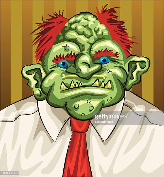 business troll vector - cartoon characters with big noses stock illustrations, clip art, cartoons, & icons