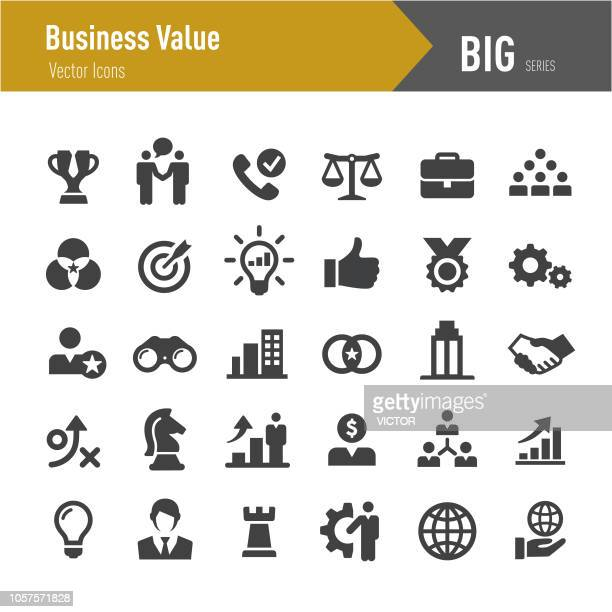 business value icons - serie big - der weg nach vorne stock-grafiken, -clipart, -cartoons und -symbole