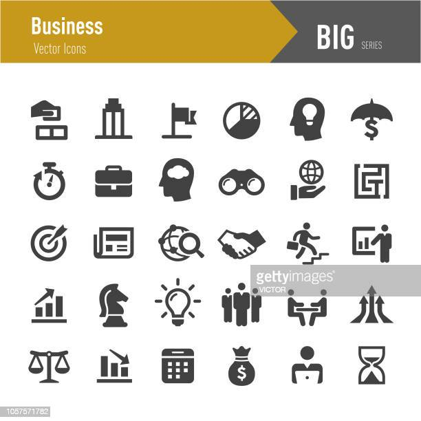 business vector icons - big series - international politics stock illustrations