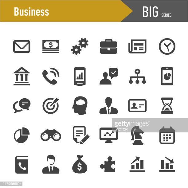 ビジネスベクトルアイコンセット - ビッグシリーズ - セールスマン点のイラスト素材/クリップアート素材/マンガ素材/アイコン素材