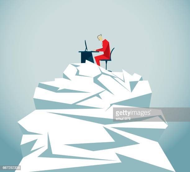 business - overworked stock illustrations