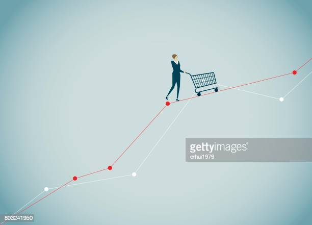 business - consumerism stock illustrations