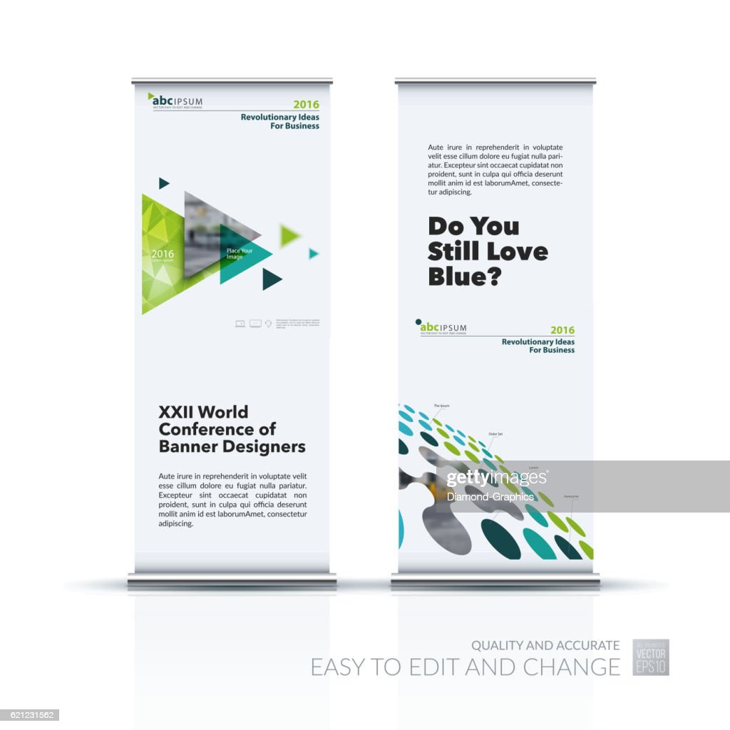 Business vector set of modern roll Up Banner stand design