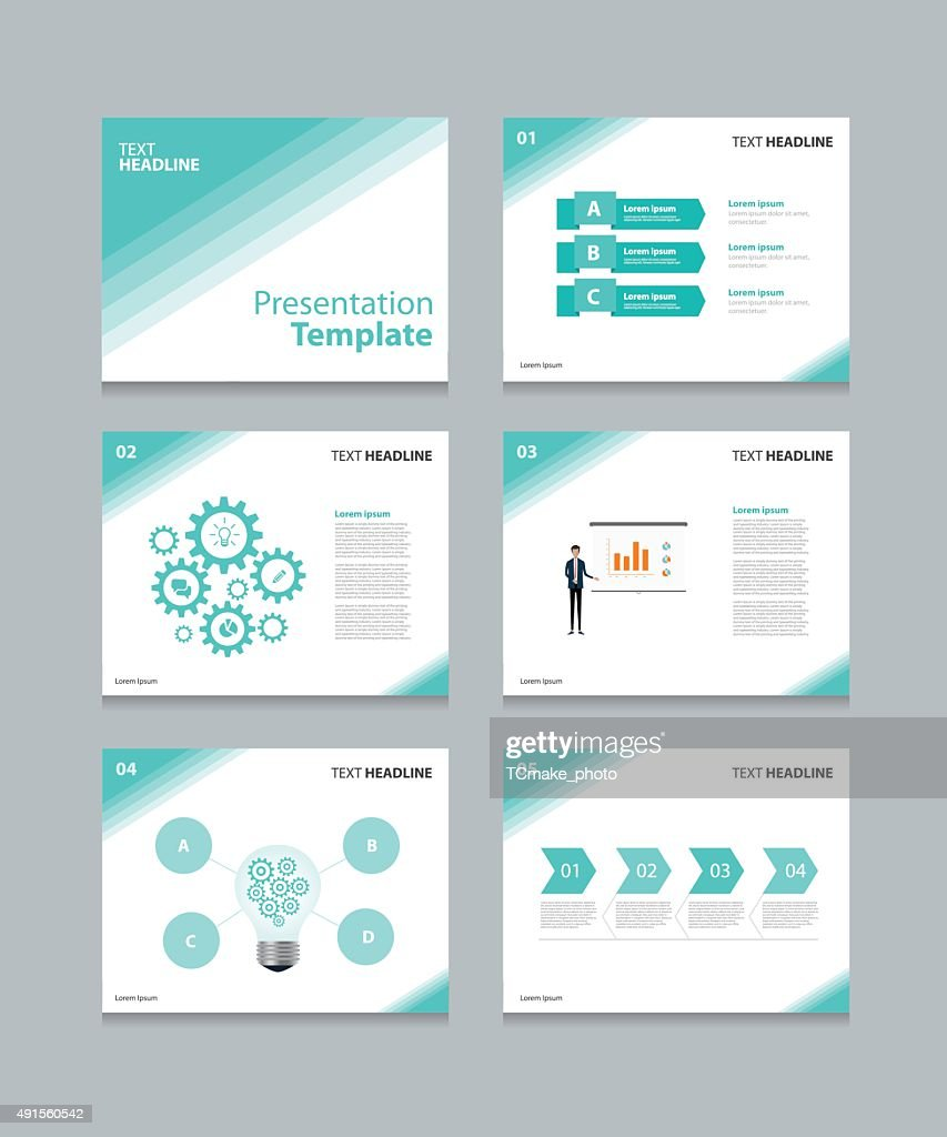 business vector template presentation slides background design