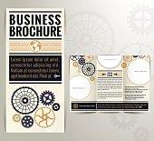 Business Vintage Brochure Flyer Design Template.