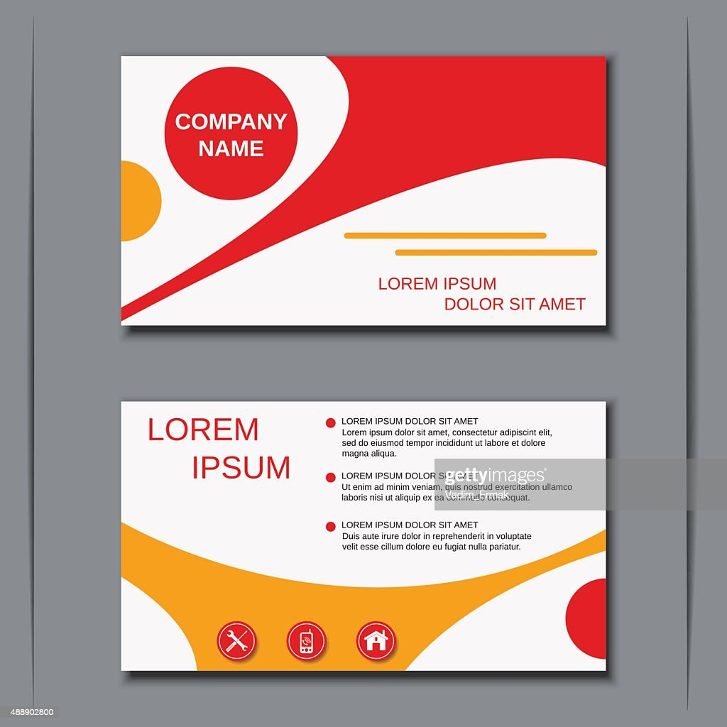 Business Visiting Card Banner Sticker Mockup Flyer Label Vector ...