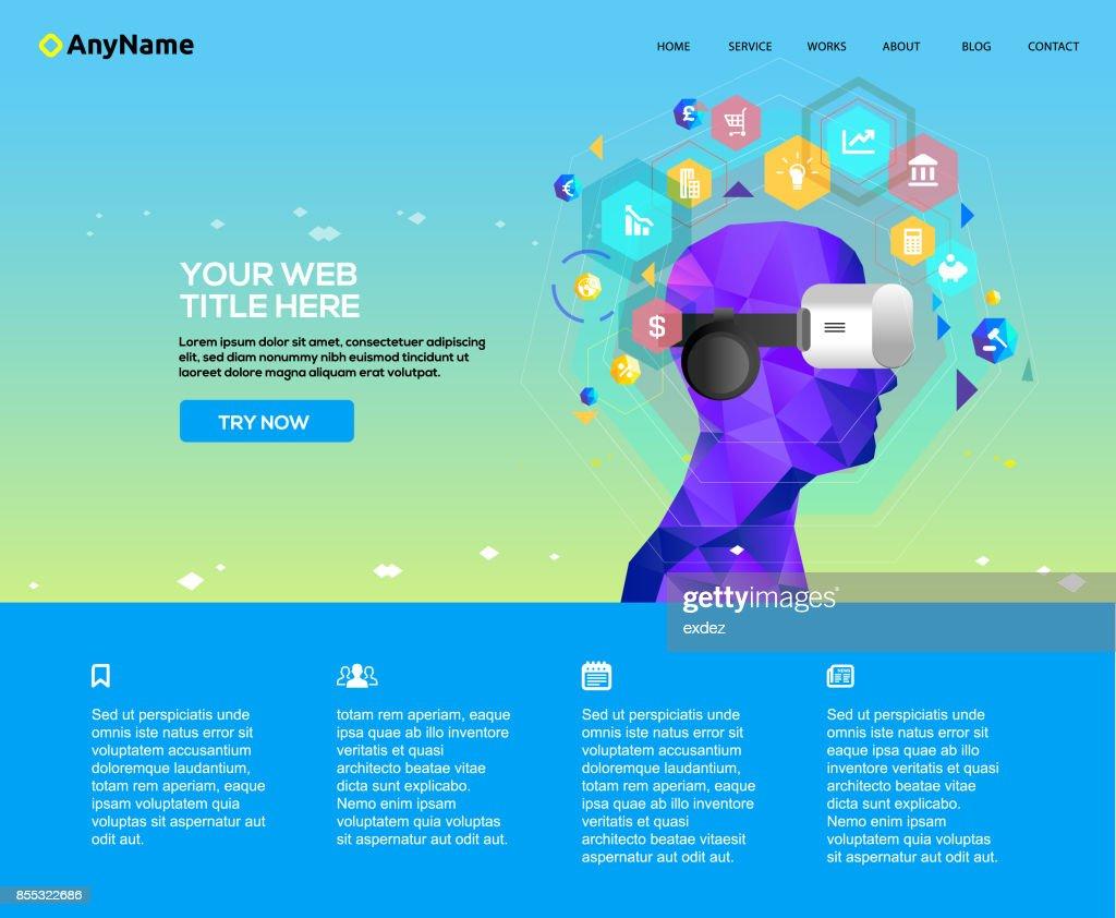 Business VR website template