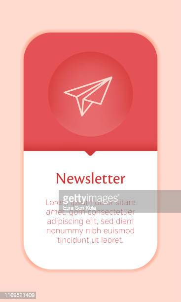 business web banner template with single newsletter icon - newsletter stock illustrations