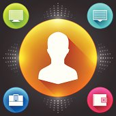 Business Web Icons Design. Vector Elements. Money Management Flat Illustration
