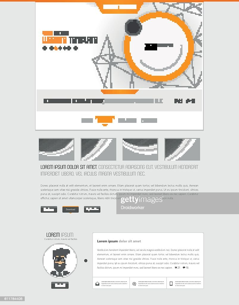 Business White Clean Website Template