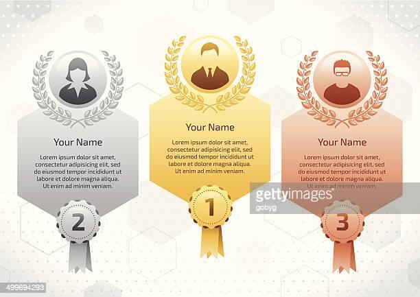 business winners - bronze alloy stock illustrations