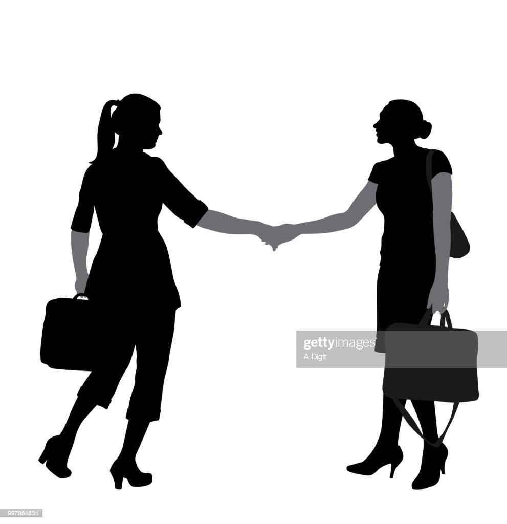 Business Woman Hanshake Agreement : stock illustration