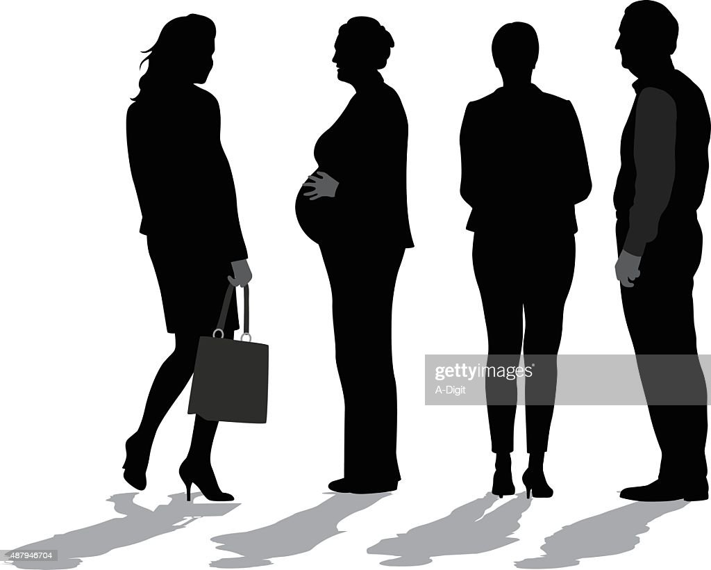 Business Woman  Pregnant And Working