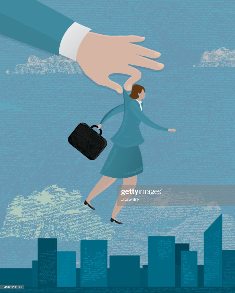 Business woman Stand out from the crowd concept
