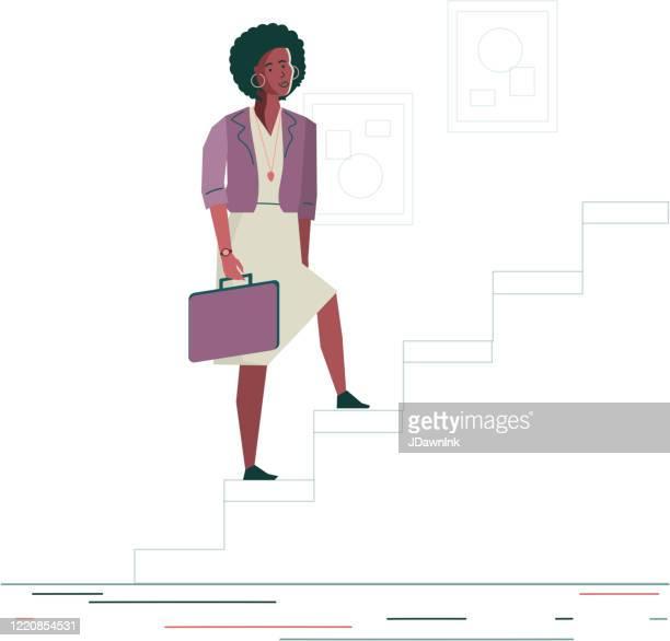 business woman success concept - jdawnink stock illustrations