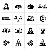 Business Women Equality Icons