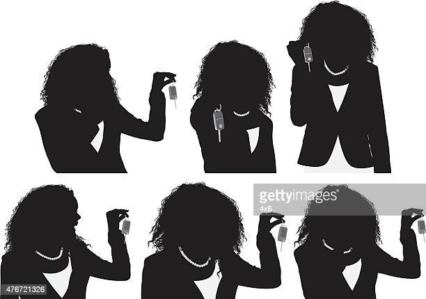 Business women with keys