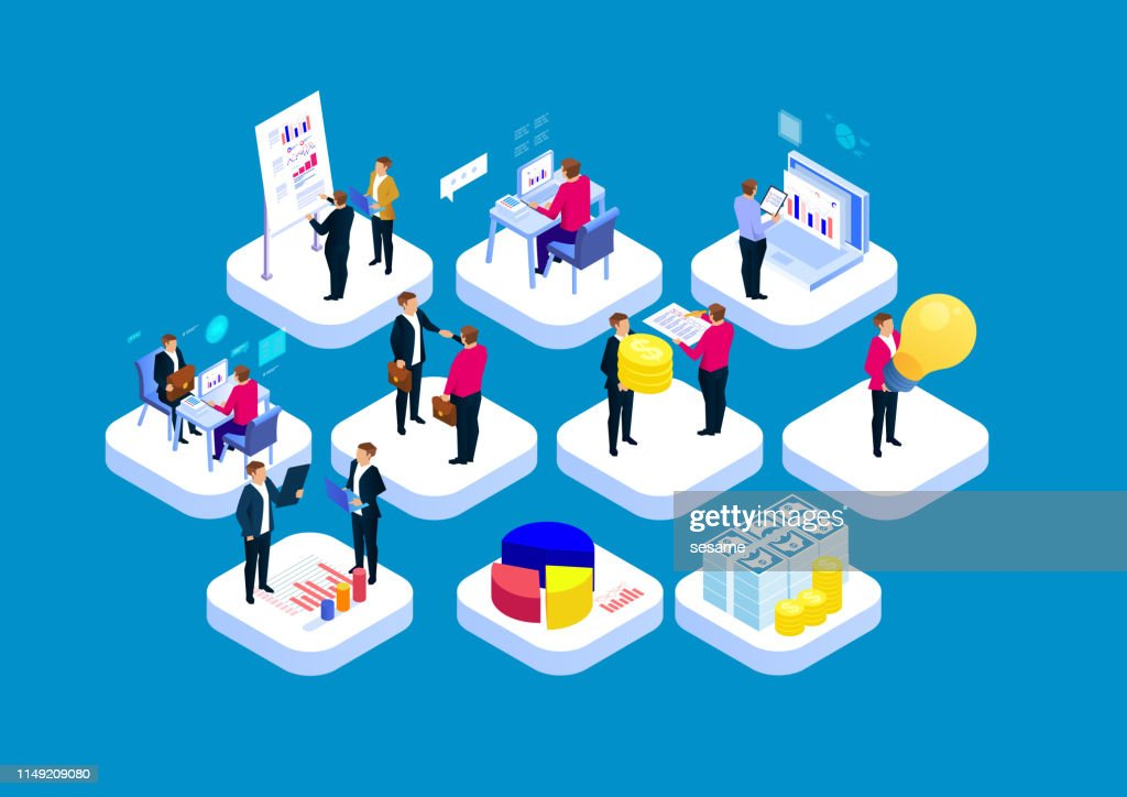 Business workflow concept : stock illustration
