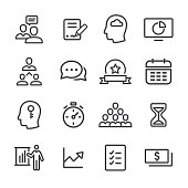Business Workflow Icon Set - Line Series