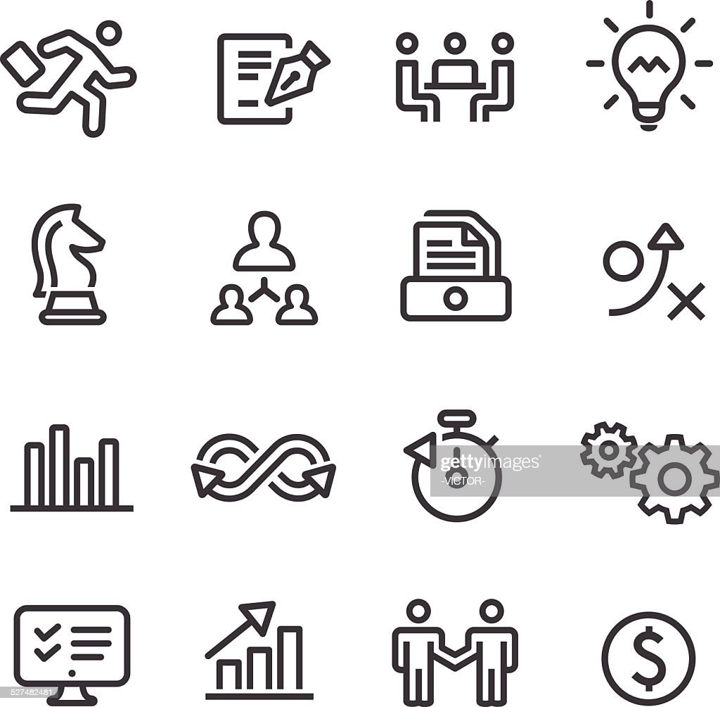 Business Workflow Icons - Line Series