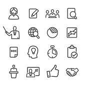Business Workflow Icons Set - Line Series