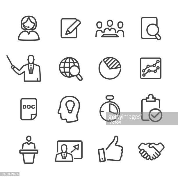 Business Workflow Icons Set - Line Serie