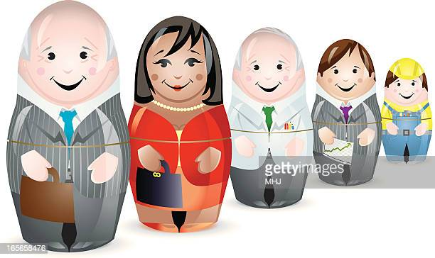 ilustrações de stock, clip art, desenhos animados e ícones de multirracial negócios da mão-de-obra. - cabelo preto