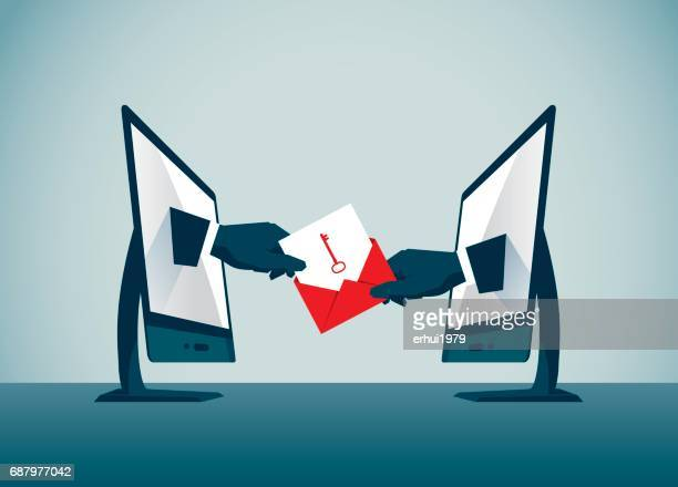businesse-commerce - confidential stock illustrations, clip art, cartoons, & icons