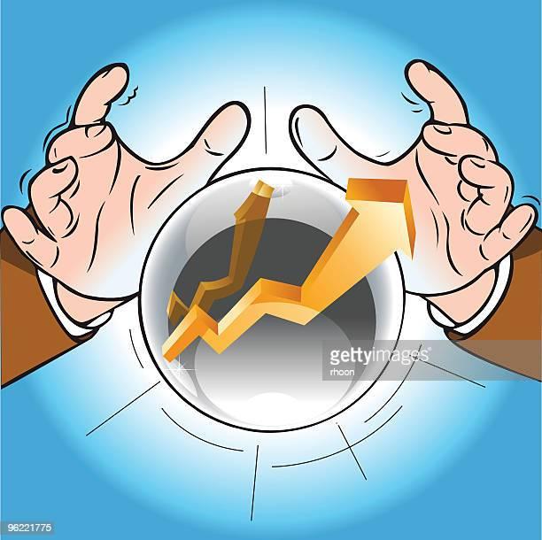 Business-Gráfico em boll