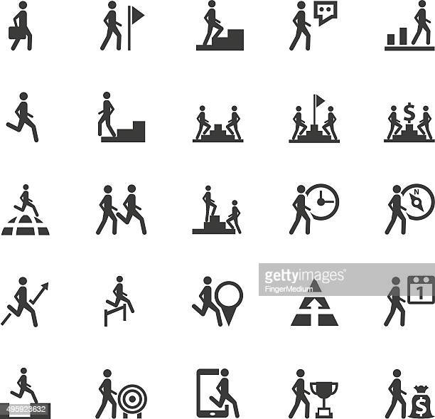 business,human resource icons - summit meeting stock illustrations