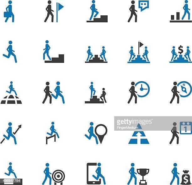 business, human resource symbole - wurf oder sprungdisziplin herren stock-grafiken, -clipart, -cartoons und -symbole