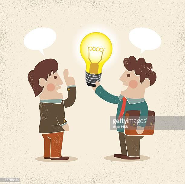 Geschäftsmann & Idee