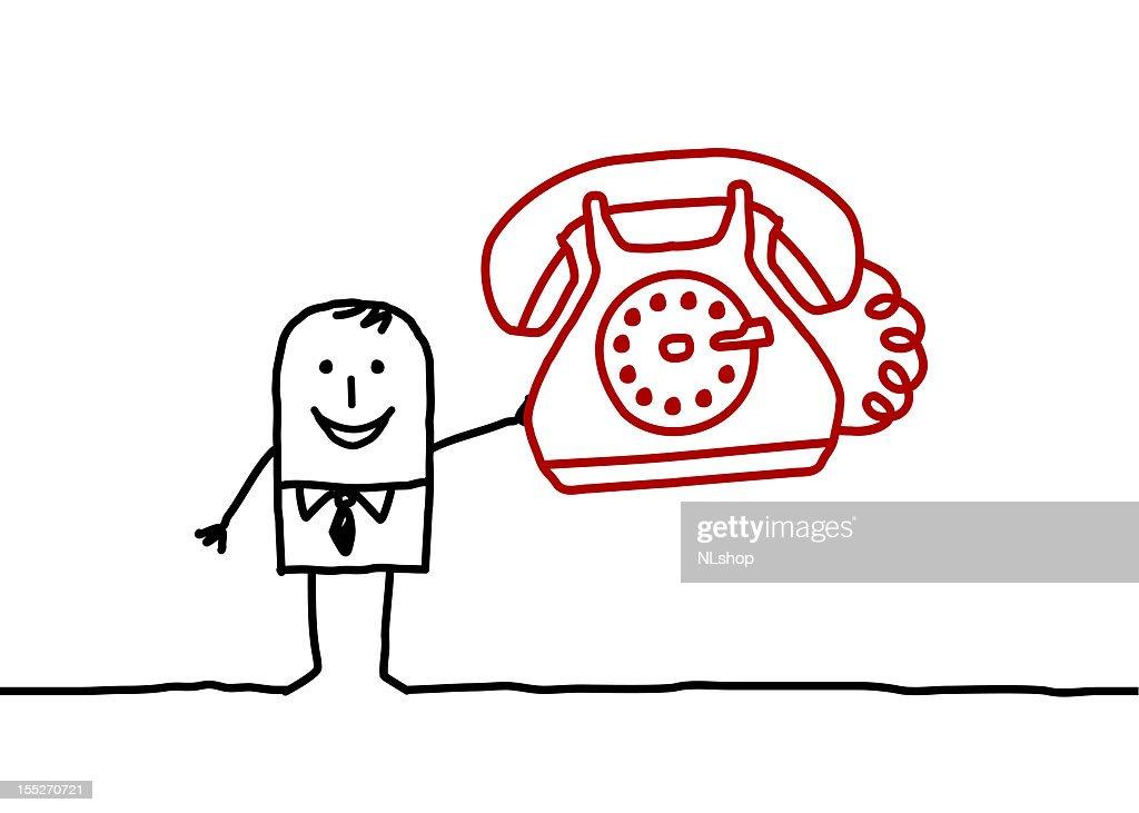 businessman & phone
