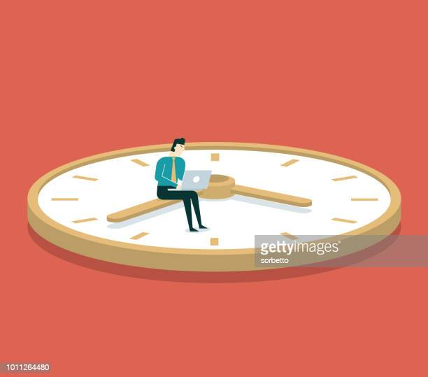 businessman and time - time stock illustrations
