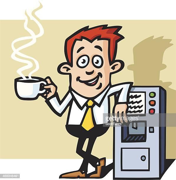Businessman at coffee machine