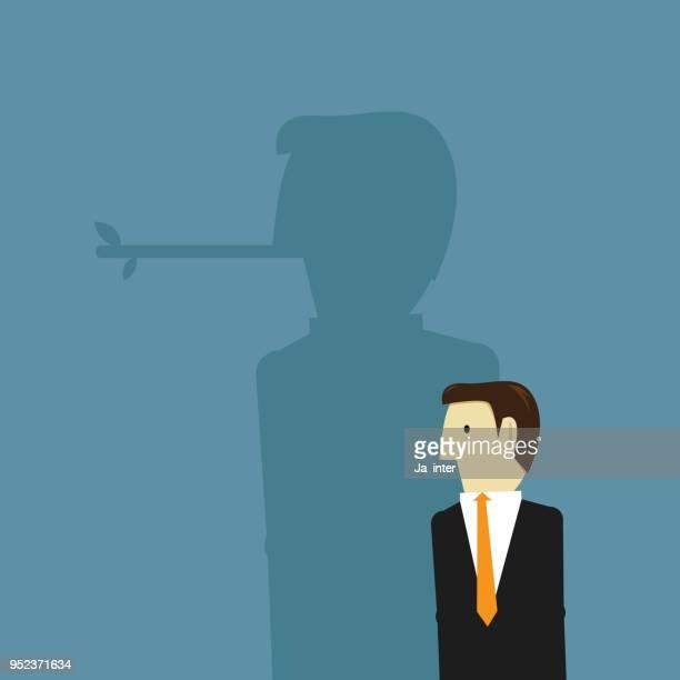ビジネスマンの大きな鼻