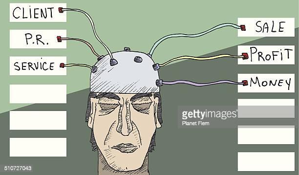 ビジネスマン brainscan - mri装置点のイラスト素材/クリップアート素材/マンガ素材/アイコン素材